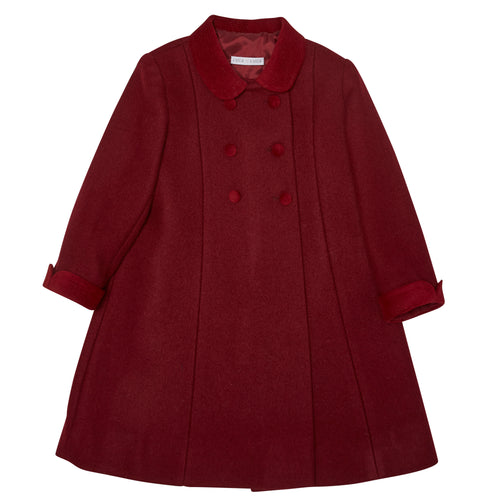 BURGUNDY HOLBEIN OVERCOAT