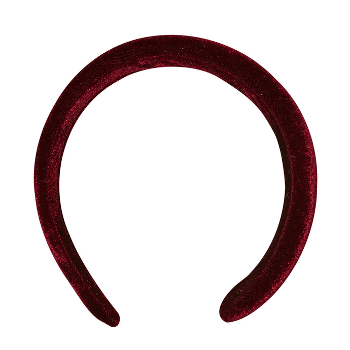 Girl's padded velvet hairband - LUCA & LUCA