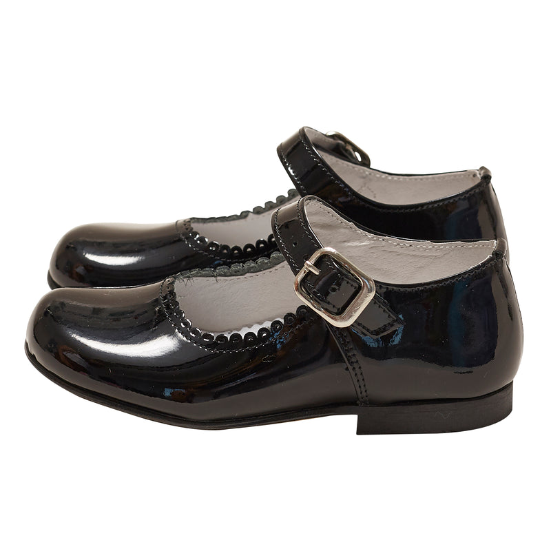 LUCA & LUCA girl's black patent mary jane