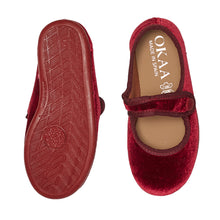 LUCA & LUCA red velvet mary janes