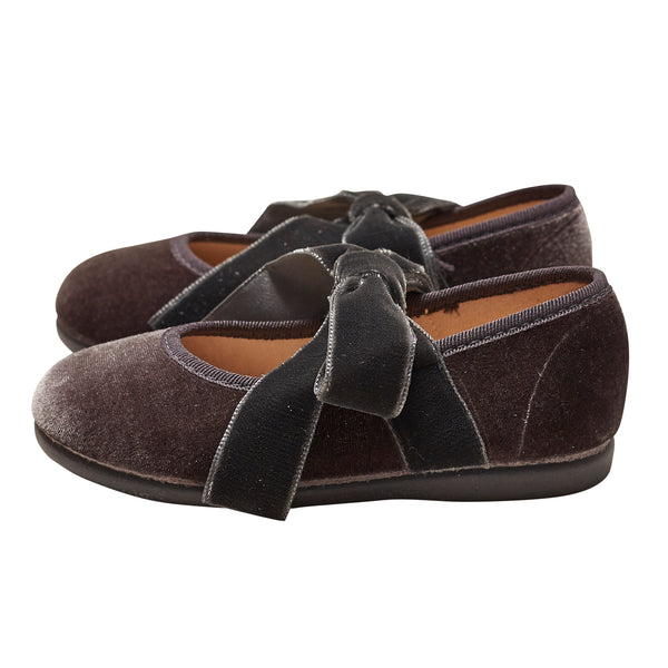 LUCA & LUCA grey velvet mary janes shoes