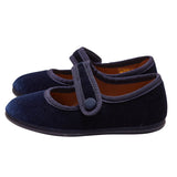 LUCA & LUCA navy velvet mary janes shoes
