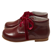 ROMULO BURGUNDY LEATHER BOOTS