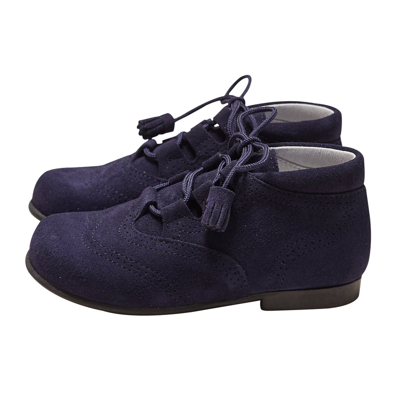 RUPERTO NAVY SUEDE BOOTS