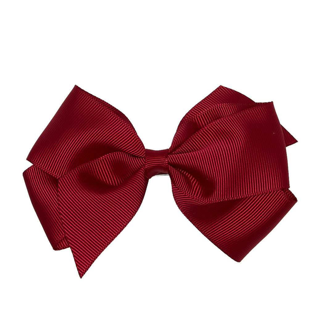 LUCA & LUCA burgundy extra large bow