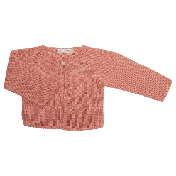 LUCA & LUCA Dusty pink Palma cardigan front