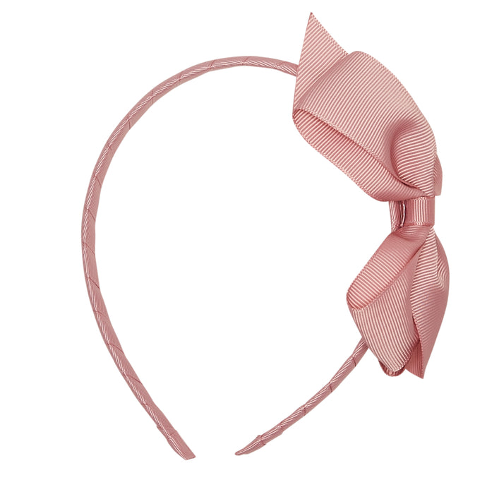 LUCA & LUCA childrenswear dusty pink extra large bow ribbon hairband