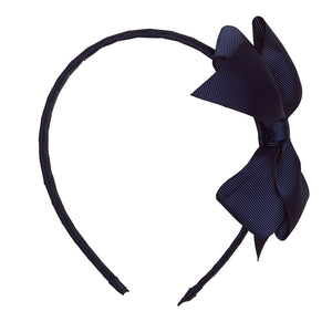 LUCA & LUCA childrenswear navy extra large bow ribbon hairband