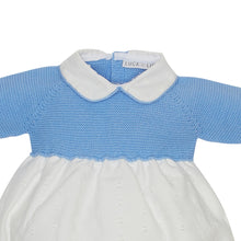 LUCA & LUCA Pale blue knitted romper zoom