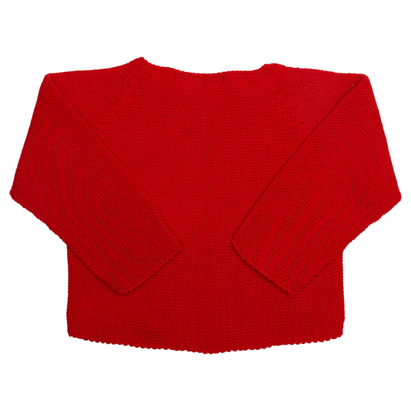 LUCA & LUCA Red Palma cardigan back