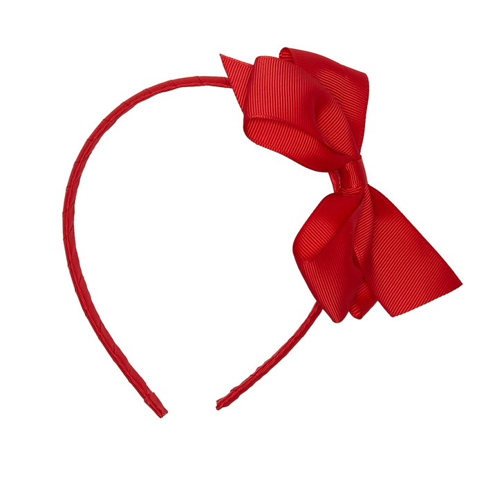 LUCA & LUCA childrenswear red extra large bow ribbon hairband