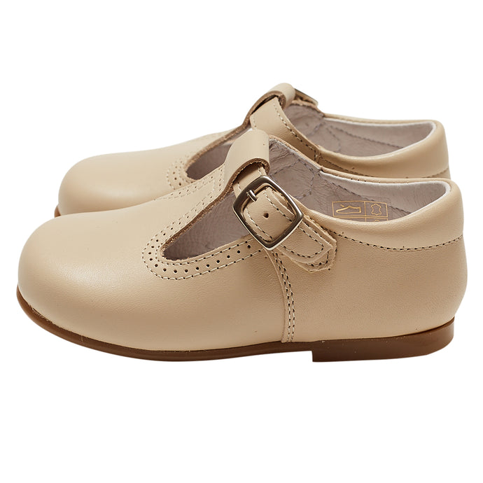 LUCA & LUCA beige t-bar shoes