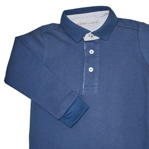 LUCA & LUCA blue polo shirt zoom view