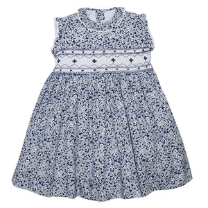 LUCA & LUCA blue smocked dress