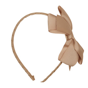 LUCA & LUCA childrenswear camel extra large bow ribbon hairband