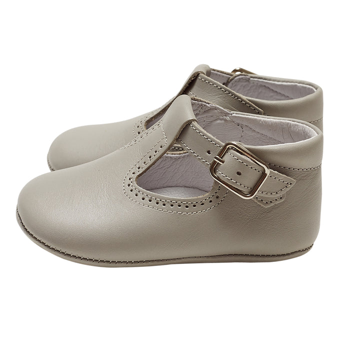 LUCA & LUCA grey t-bar pram shoes