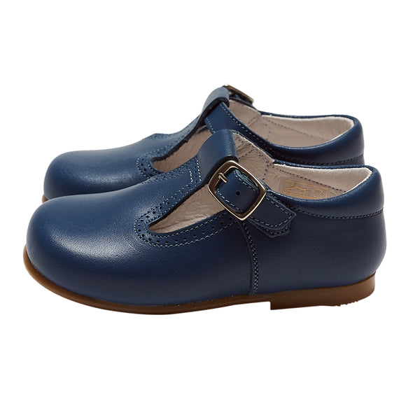 LUCA & LUCA iris blue t-bar shoes