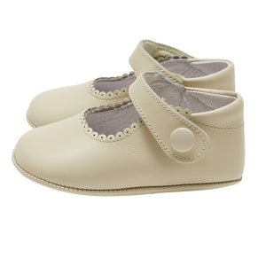 LUCA & LUCA ivory mary janes pram shoes