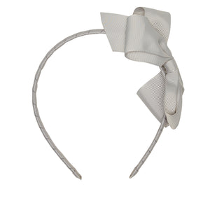 LUCA & LUCA childrenswear light grey extra large bow ribbon hairband