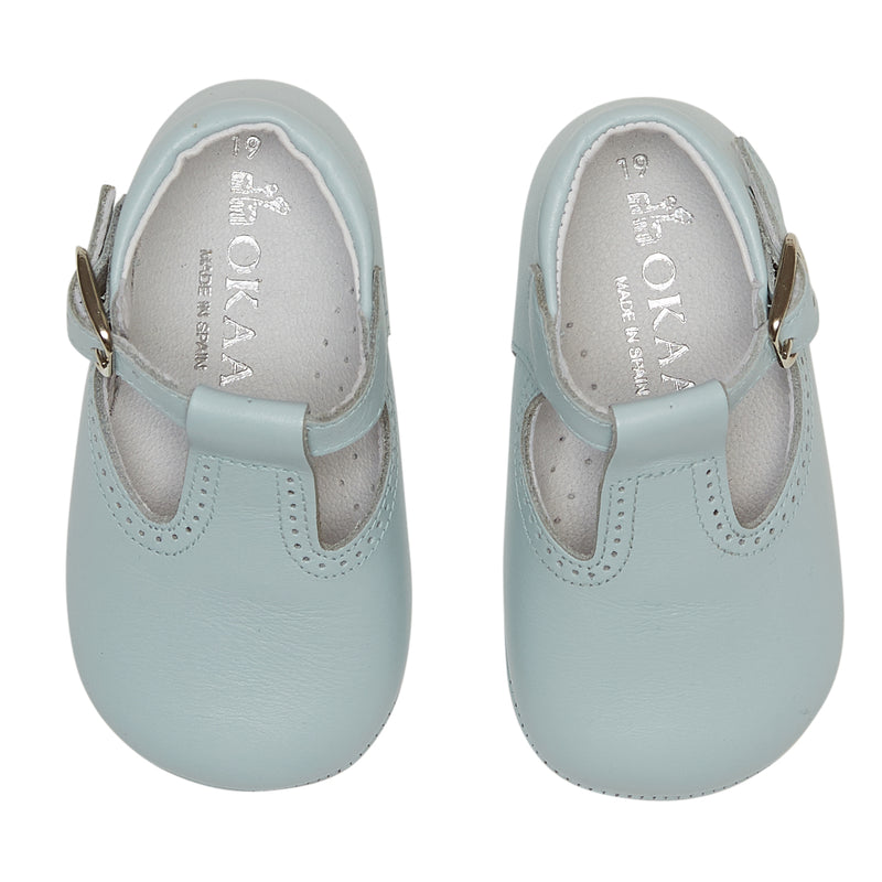 LUCA & LUCA blue t-bar pram shoes
