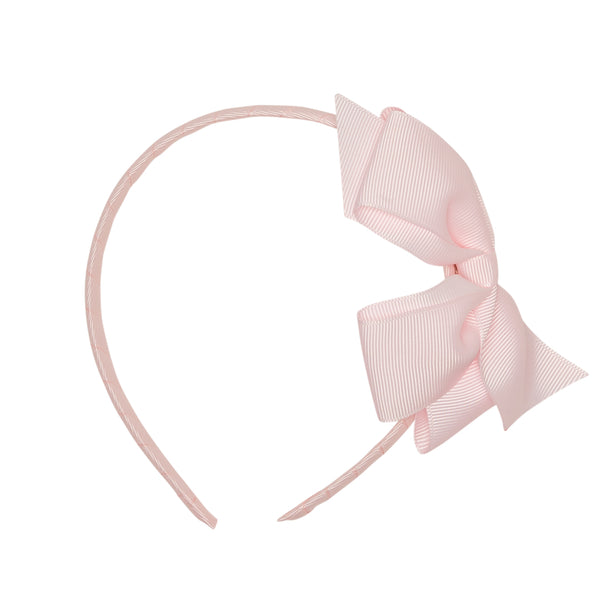 LUCA & LUCA childrenswear pale pink extra large bow ribbon hairband