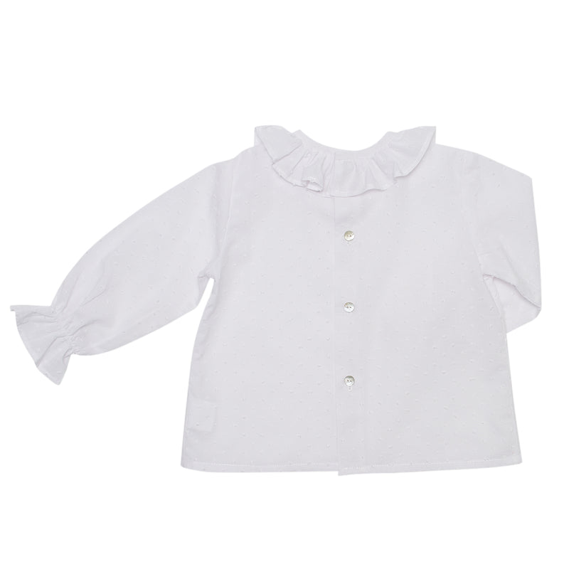 LUCA & LUCA white girls blouse