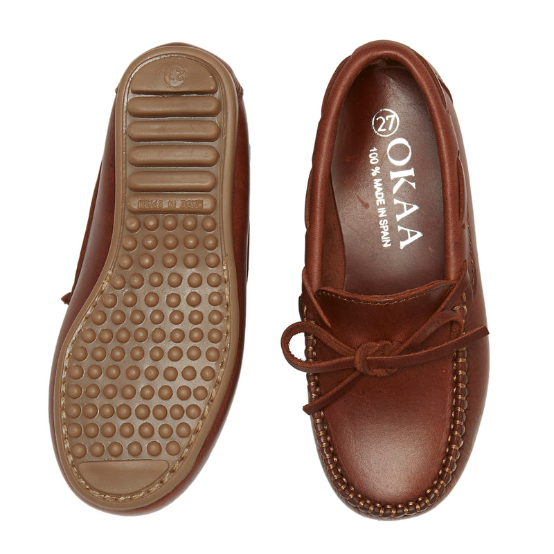 LUCA & LUCA brown nappa loafers