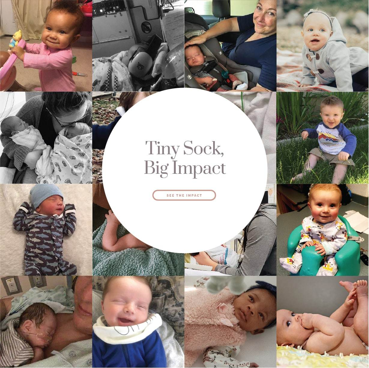 Tiny sock, big impact. Click to see the impact >