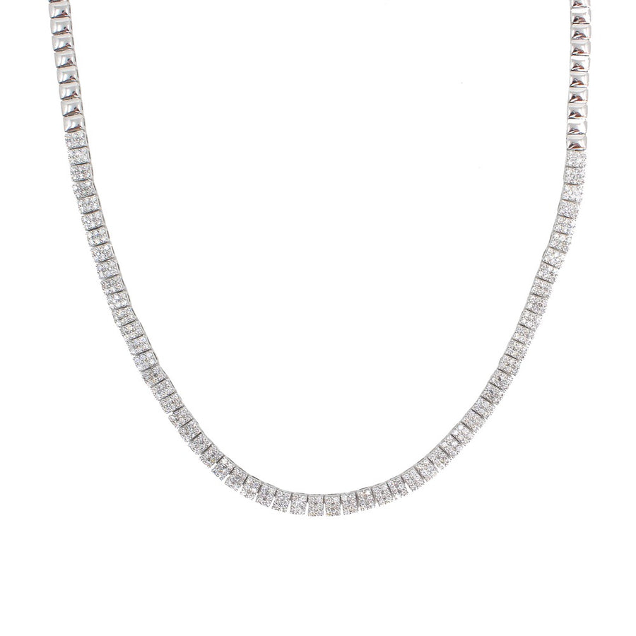 Diamond Bar Chocker Necklace - 14KT Gold - Monisha Melwani Jewelry