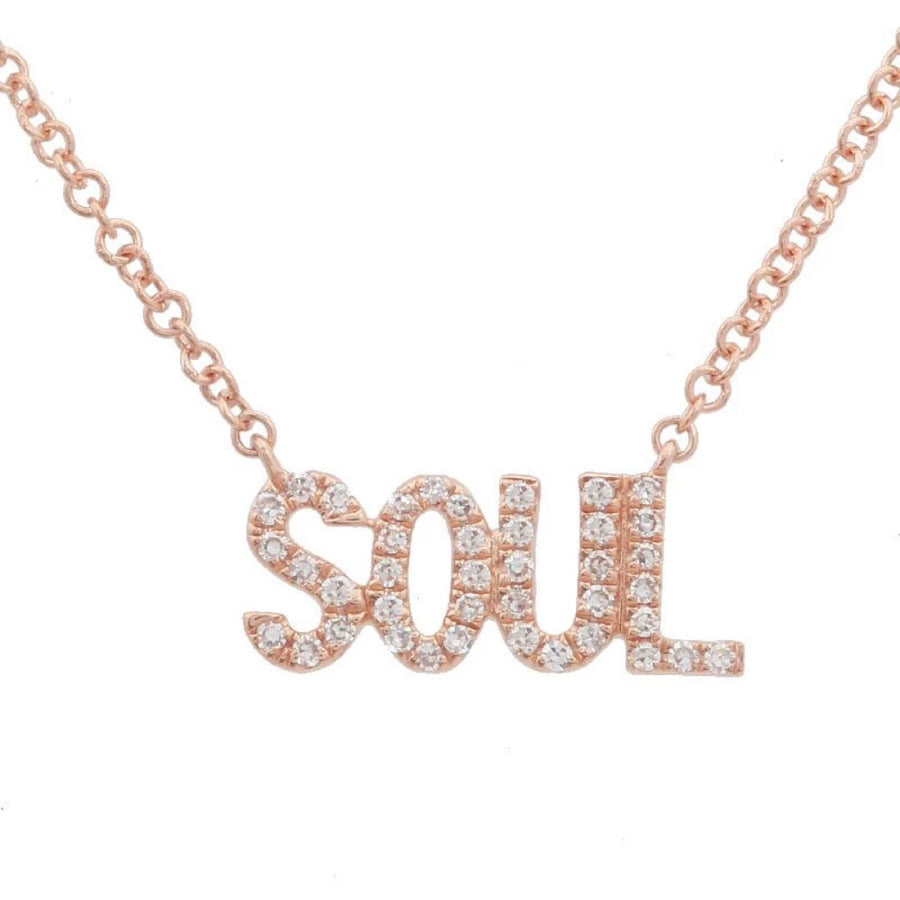 Gold Soul Diamond Necklace - 14KT Gold - Monisha Melwani Jewelry