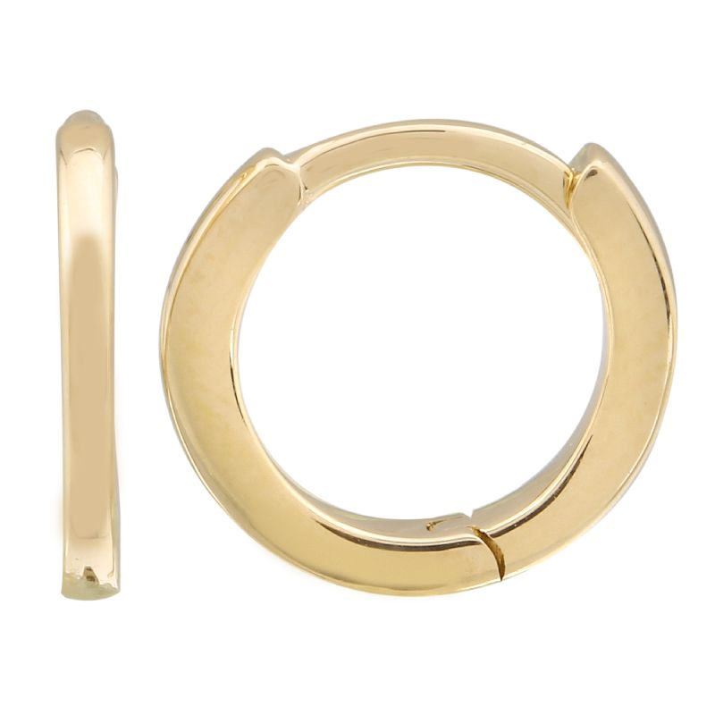 Gold Eternity Mini Hoop Earrings