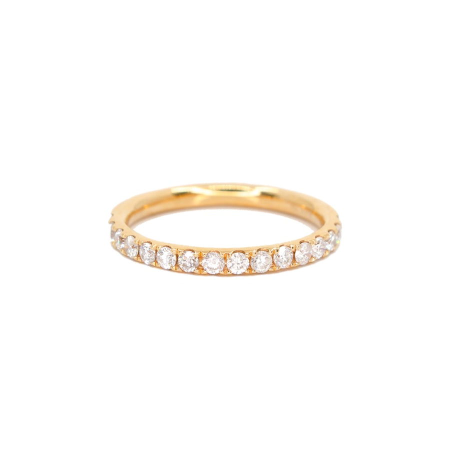 Diamond Half Eternity Band Ring - 18KT Gold - Monisha Melwani Jewelry
