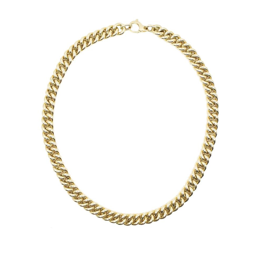 Gold Curb Necklace - 14KT Gold - Monisha Melwani Jewelry