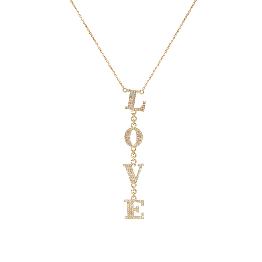 Diamond Love Link Necklace - 14KT Gold - Monisha Melwani Jewelry