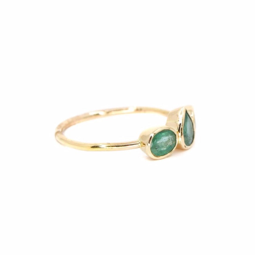 Gold Emerald Stone Ring