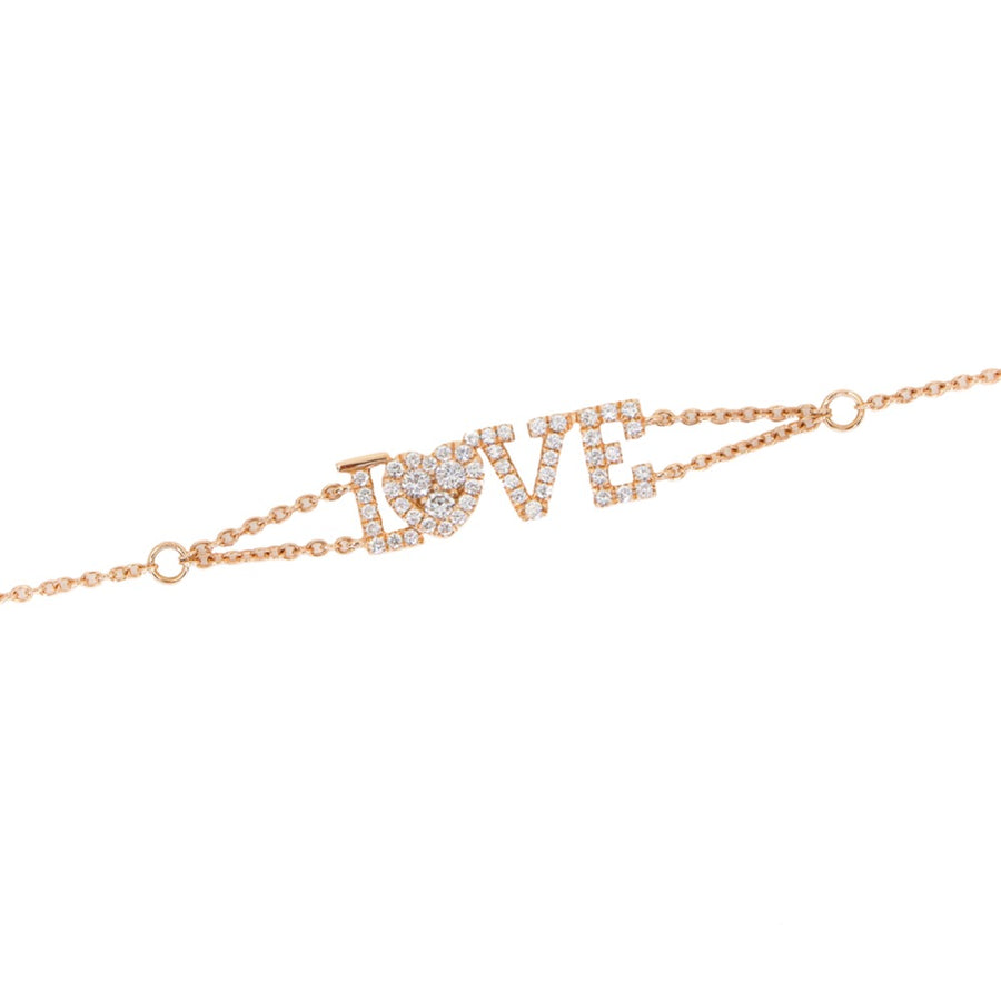 Diamond Love Rose Gold Bracelet  - 18KT Gold - Monisha Melwani Jewelry