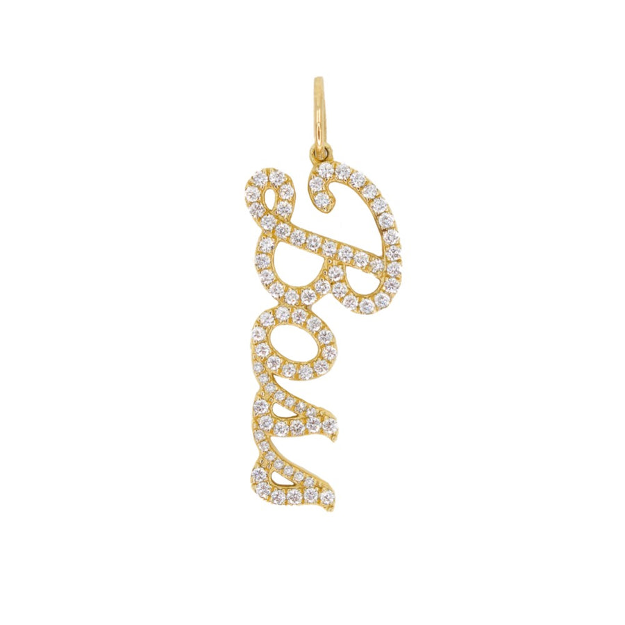 Gold Diamond Boss Pendant - 14KT Gold - Monisha Melwani Jewelry