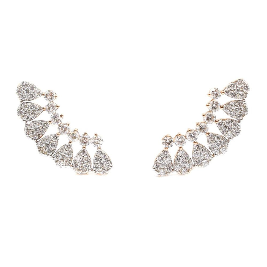Diamond Gold Ear Climber - 18kt Gold - Monisha Melwani Jewelry