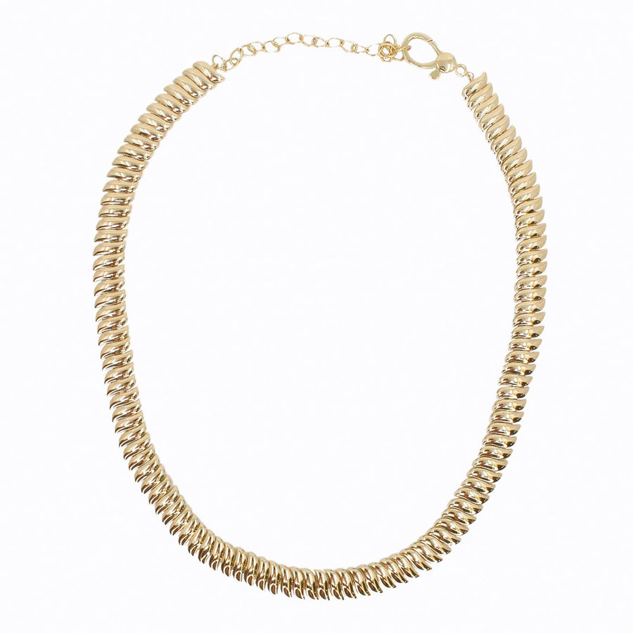 Gold Curve Necklace - 14KT Gold - Monisha Melwani Jewelry