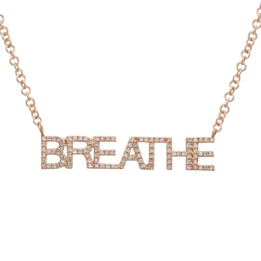 Gold Diamond Breathe Necklace - 14KT Gold - Monisha Melwani Jewelry