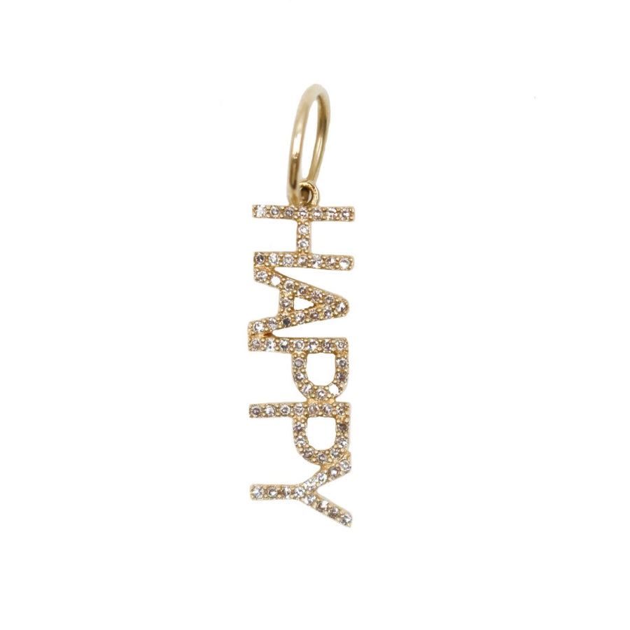 Diamond Happy Pendant - 14KT Gold - Monisha Melwani Jewelry