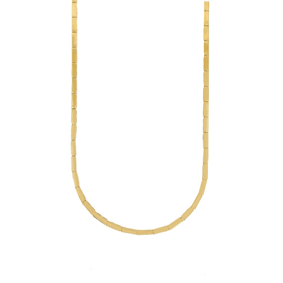 Gold Rectangle Link Necklace - 14KT Gold - Monisha Melwani Jewelry