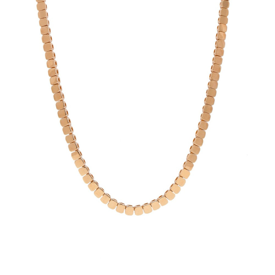 Gold Square Link Necklace - 14KT Gold - Monisha Melwani Jewelry