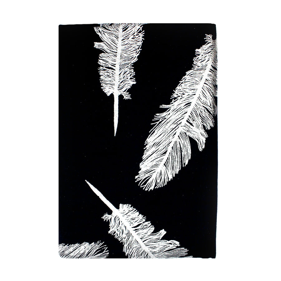 Black Feather Pashmina Shawl - Monisha Melwani Jewerly - MIY