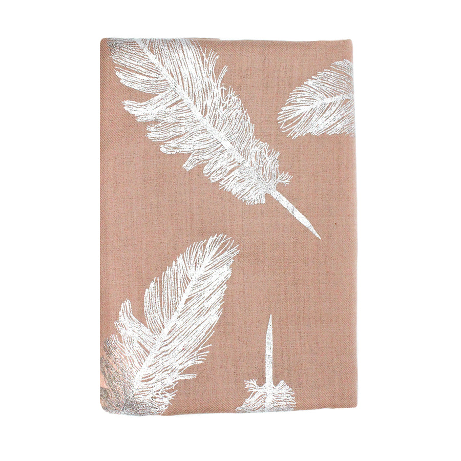 Taupe Feather Pashmina Shawl - Monisha Melwani Jewelry - MIY