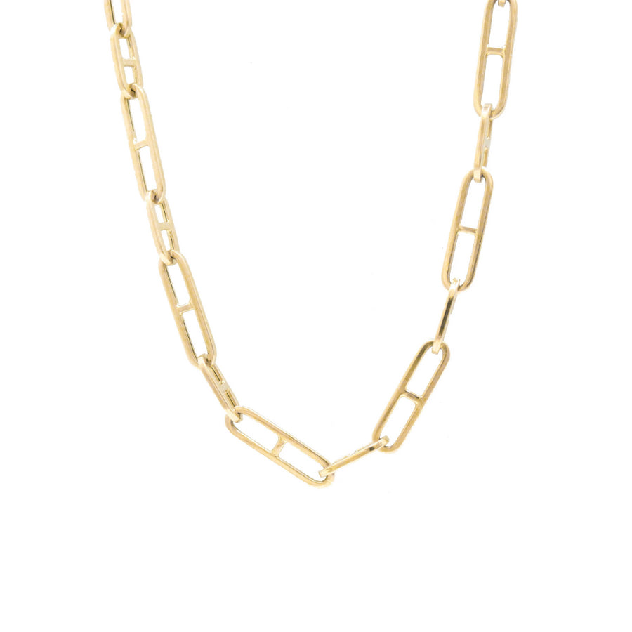 Gold H Link Chain Necklace