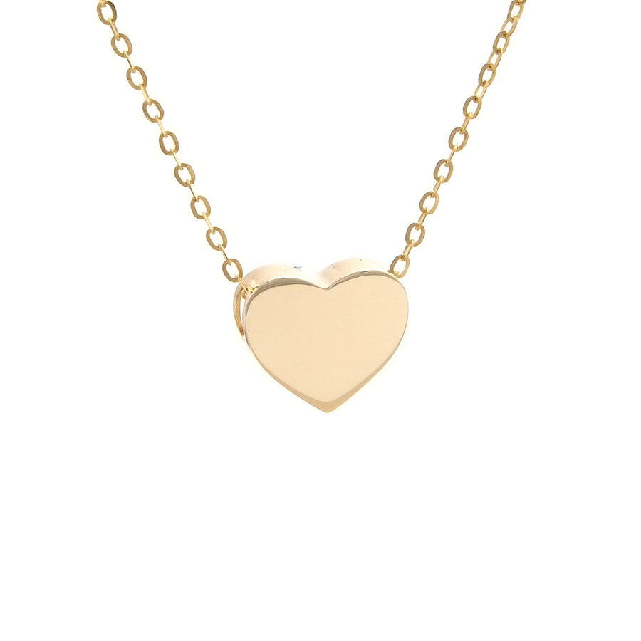 Yellow Gold Heart Necklace - Monisha Melwani Jewelry