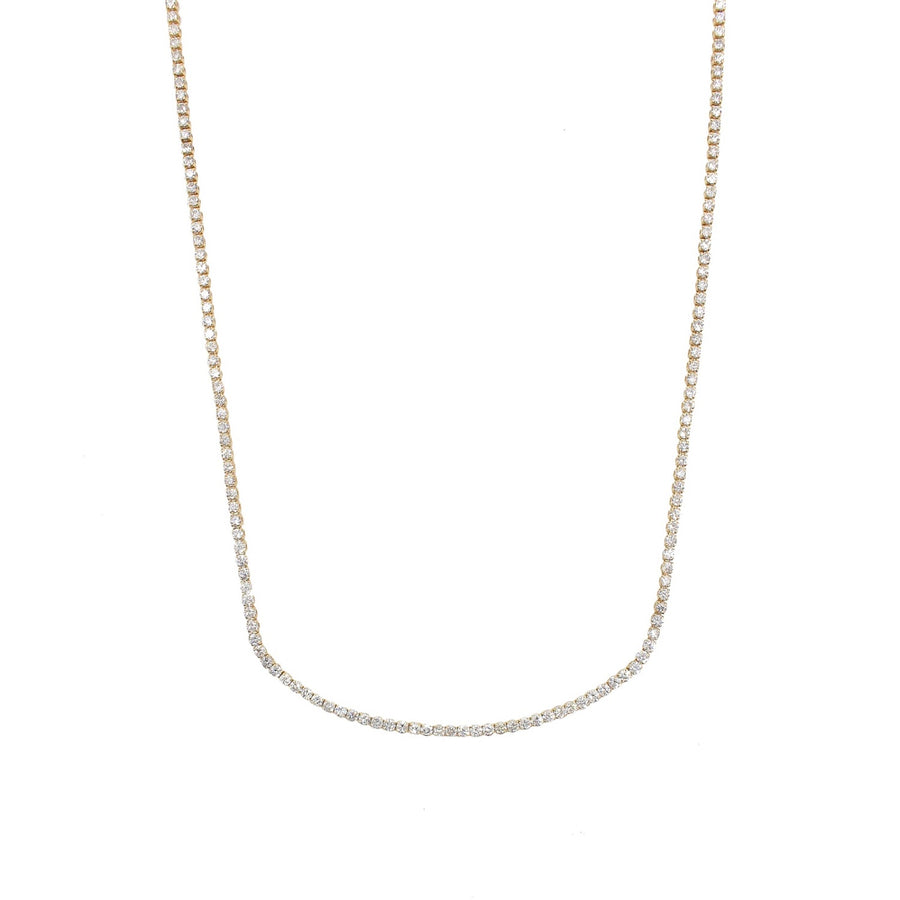 Gold Diamond Tennis Necklace