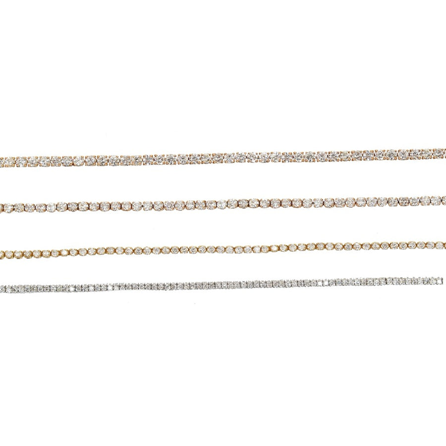 Gold Diamond Tennis Bracelet