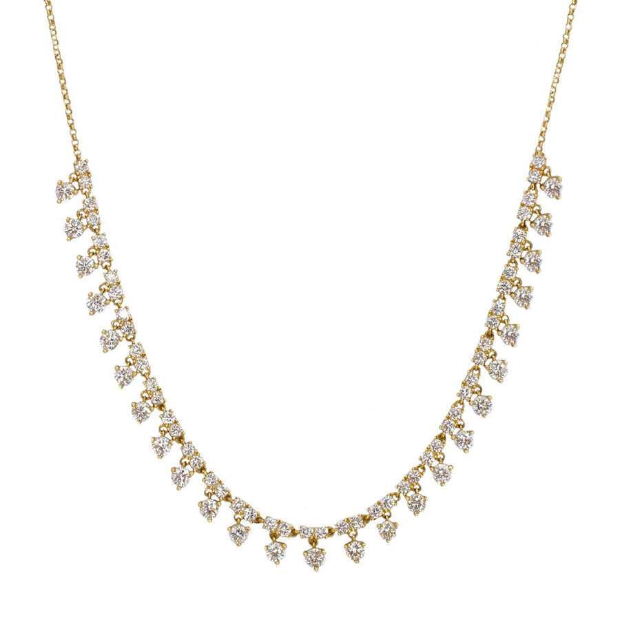 Gold Diamond Shaker Necklace
